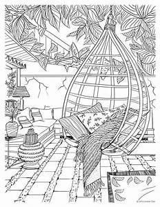 89 coloring pages for adults scenery 30 halloween With interior design coloring books