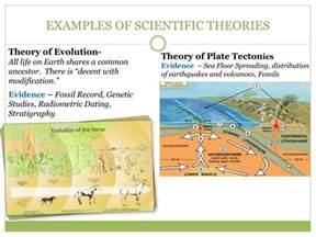 Examples Scientific Theories