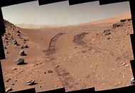 Earth Image NASA of Curiosity Mars Rover