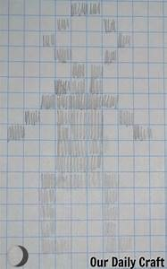 Draw Something Chart Draw On Grid Paper Craft Challenge Day 94 Our Daily Craft
