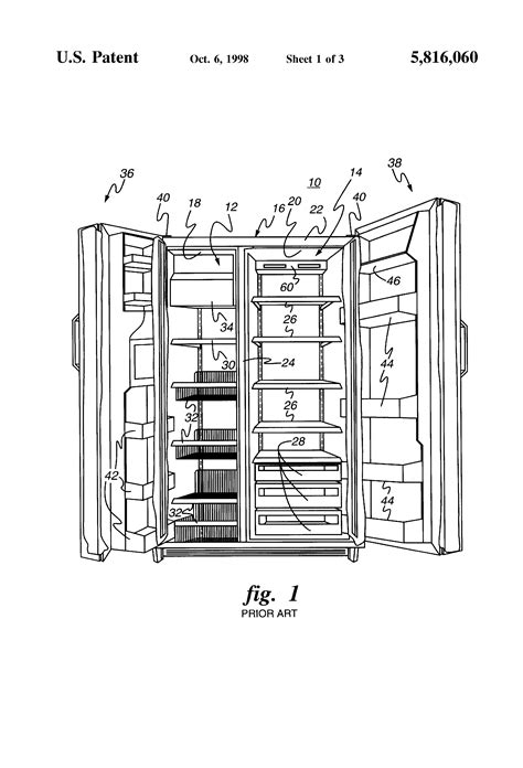 patent  air flow control   side  side refrigerator google patents