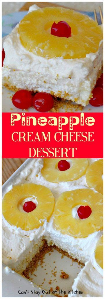 pineapple cream cheese dessert  stay    kitchen