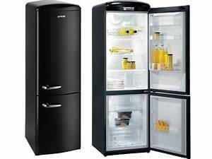 Frigo Noir Vintage. freestanding fridge freezer rf60309obk gorenje ...
