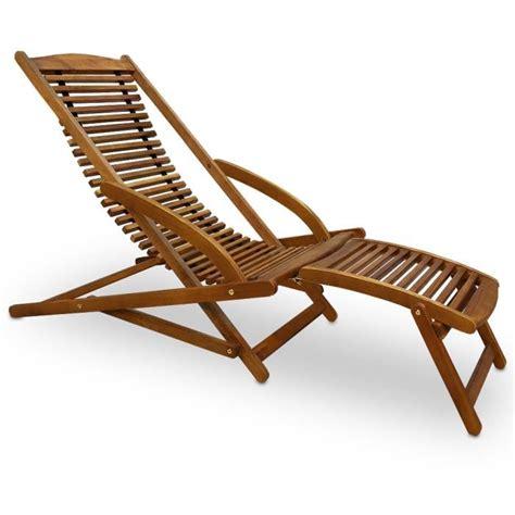 chaise longue en bois transat chaise longue bois mobilier de jardin achat