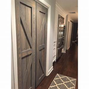 hinged bi fold sliding pantry doors by rustic luxe With bi folding barn doors