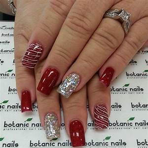 Best 25+ Red and silver nails ideas on Pinterest | Red ...