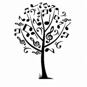 Stickers Arbre Noir : stickers arbre musique ~ Teatrodelosmanantiales.com Idées de Décoration