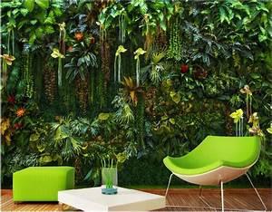Pflanzen Für Wohnzimmer : benutzerdefinierte mural 3d wallpaper regenwald blumen pflanzen bl tter wohnzimmer wohnkultur ~ Markanthonyermac.com Haus und Dekorationen