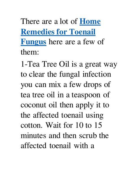 home remedies  toenail fungus