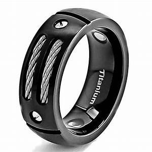 black titanium camo wedding rings titanium mens wedding With mens black titanium wedding rings