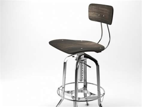 Vintage Toledo Bar Chair by Vintage Toledo Bar Chair 3d Model Restoration Hardware