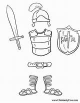 Coloring Bible Sunday Armor God Printable Crafts Dios Printables Sheets Christianitycove Vbs sketch template