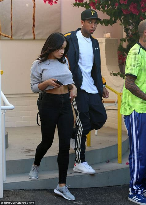 tyga spotted romancing kylie jenner lookalike