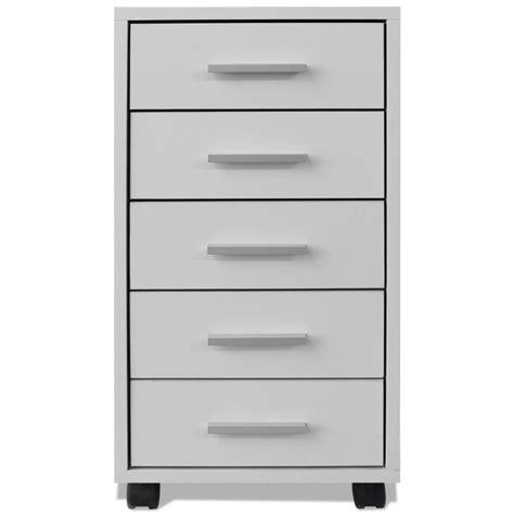 bureau a tiroir acheter vidaxl caisson à tiroir de bureau avec roulettes