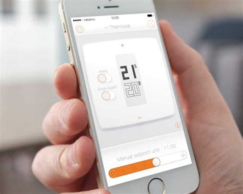thermostat chambre froide thermostat for smartphone tablets and laptops by netatmo
