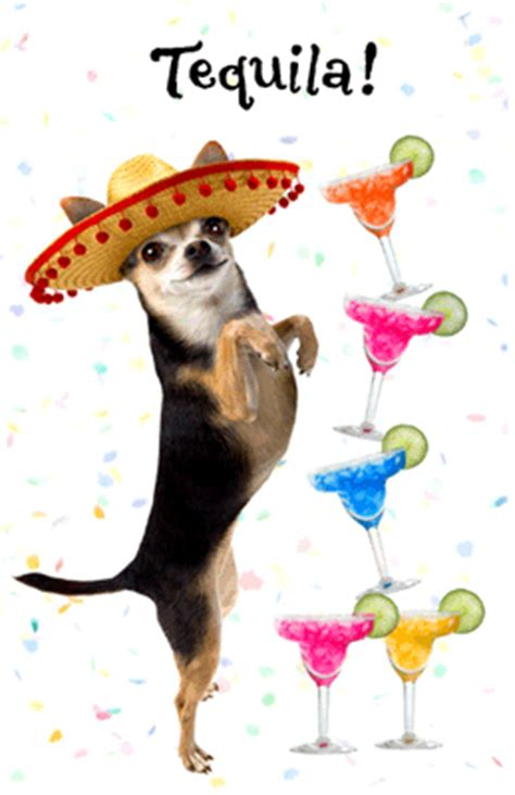 tequila birthday birthday printable card blue