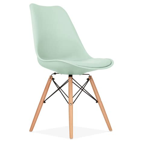 chaises eams mint dining chair with dsw style wooden legs