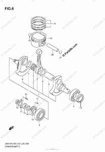 Suzuki Motorcycle 2006 Oem Parts Diagram For Crankshaft