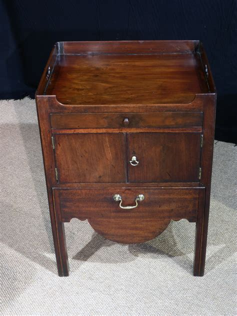 antique bedside cabinet tray top commode georgian night