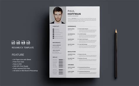 Theme Cv Word by Resume Cv Paul Hoffman Resume Template 65458