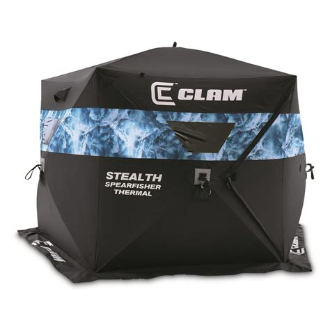Clam Stealth Spearfisher Thermal Ice Fishing Shelter, 46