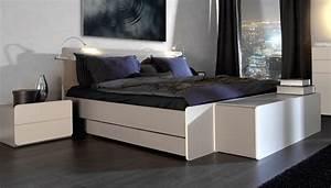 Coffre de rangement 2pir chambre coucher contemporaine for Meuble disign chambre