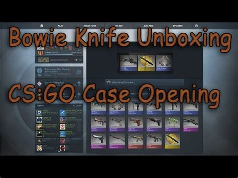 cs go bowie knife unboxing opening