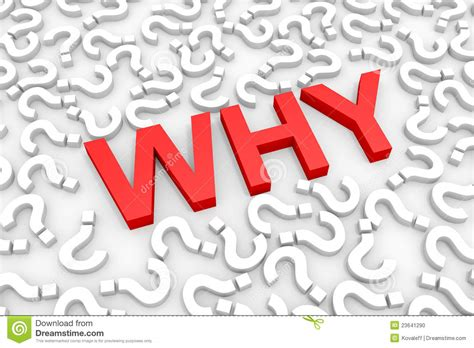 Why Images Why Word Around Questions Stock Illustration