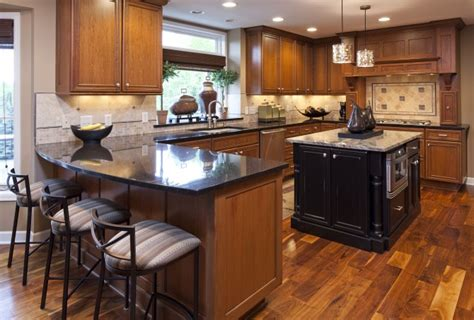 dark cabinets with wood floors wood floors for kitchens kitchens with wood floors