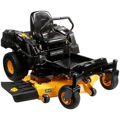 craftsman turn zero mowers series 54 hp kohler lawn twin deck riding mower residential duty heavy sears fabricated tractor models
