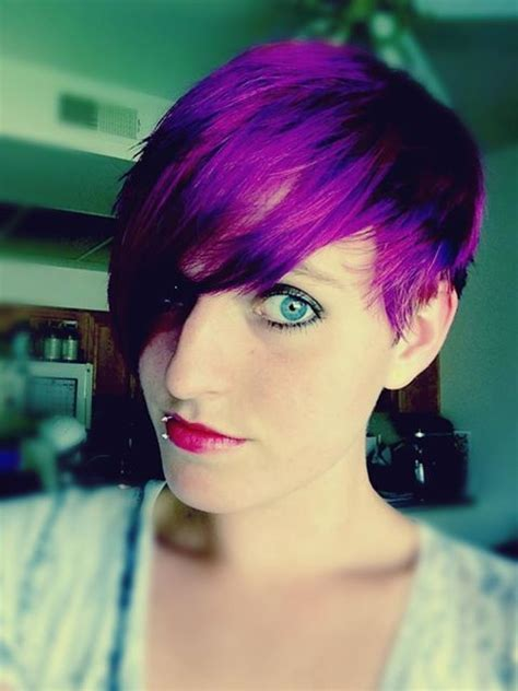 Pixie Cut With Splat Lusty Lavender Dye Purple Hair