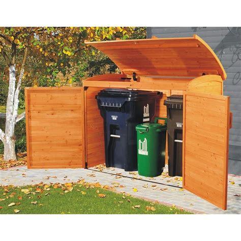 garbage bin storage shed leisure season wooden outdoor trash recycle bin storage
