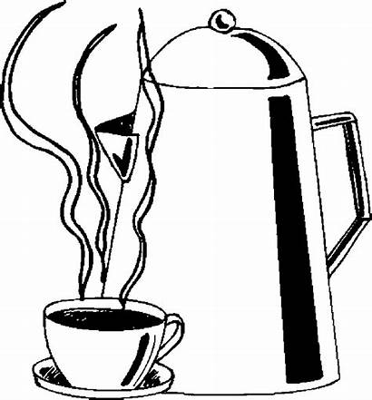 Coloring Cup Drinks Coffee Pages Pot Drink