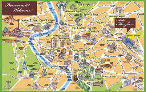 rome sightseeing map rome   rom reise rom