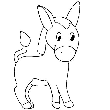 animals donkey printable colouring pages  preschool preschool crafts