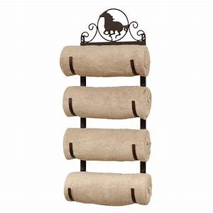 Horse wall door mount towel rack