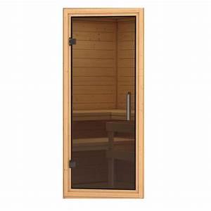 Poignée De Porte Moderne : porte en verre pour sauna karibu en lambris ou en madrier ~ Premium-room.com Idées de Décoration