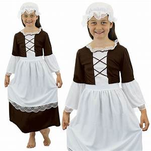 TUDOR GIRL FANCY DRESS COSTUME POOR TUDOR MAID SCHOOL ...