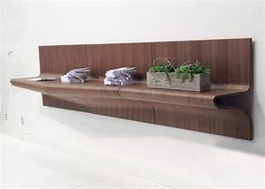 Etagere Murale Chene : etag re murale originale en bois de ch ne ou noyer chez ksl living ~ Teatrodelosmanantiales.com Idées de Décoration