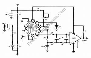 see as the figure the fm demodulator 4046 circuit With ne565 lm741 frequency modulator demodulator circuit using ic and opamp