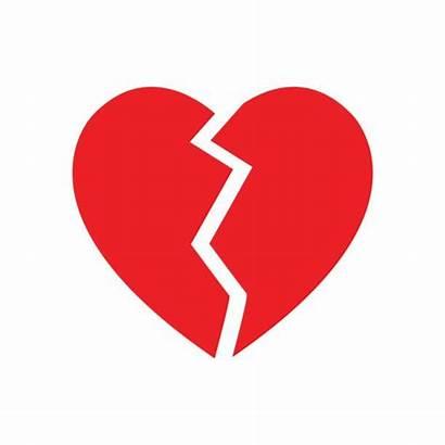 Broken Heart Symbol Vector Illustration Clip Illustrations