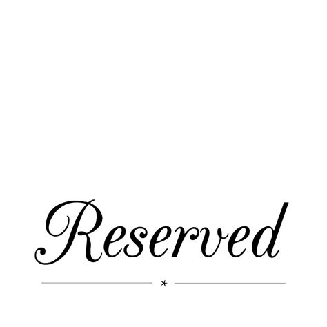 reserved sign one week dinner brief abbie gostelow