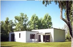 ophreycom maison cube moderne constructeur With plan de maison cubique 3 maison bois cubique 224 toit plat nos maisons ossatures bois