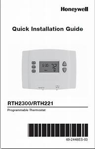 Honeywell Rth2300  Rth221 Installation Guide