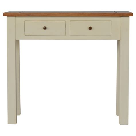 narrow desk with drawers 2 toned narrow console table with 2 drawers