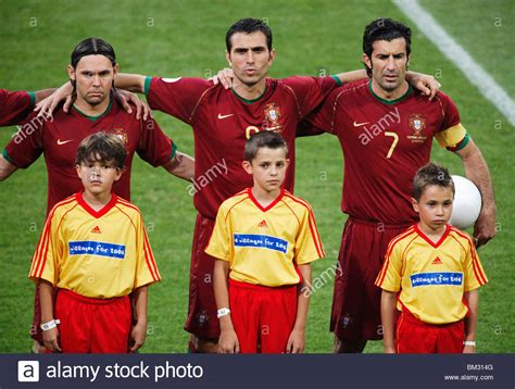 Portugal National Team Players Maniche Pauleta And Luis