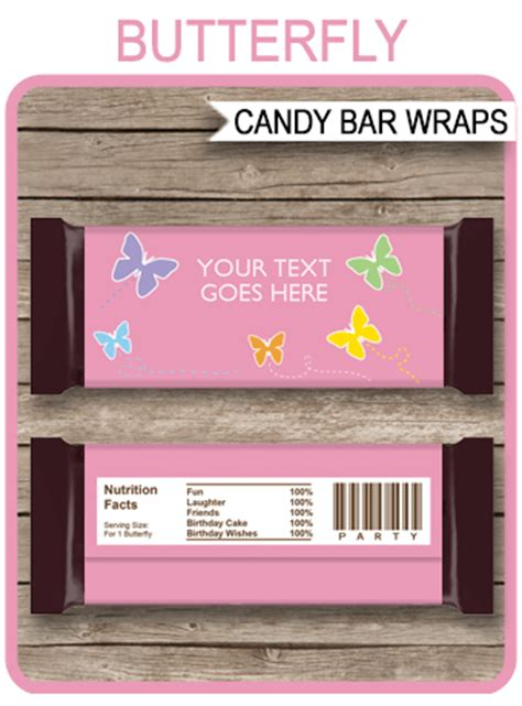 butterfly hershey candy bar wrappers personalized candy bars