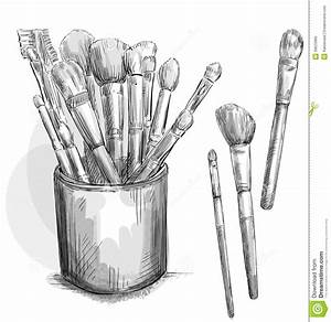 Make Up Brushes Collection  Makeup Case  Fashion I Stock