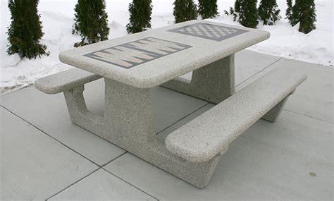 precast concrete picnic tables sycamore picnic table w optional gameboard stencils