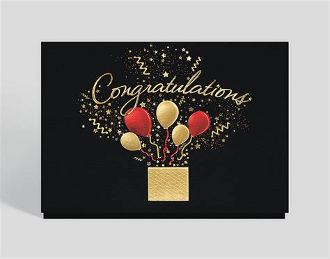 bursting congratulations wishes card  business